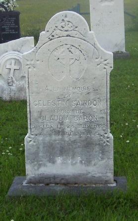 Saindon Celestin Val Brillant Cemetery