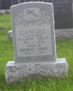Headstone: VALLEE | Val Brillant Cemetery | Quebec Headstones