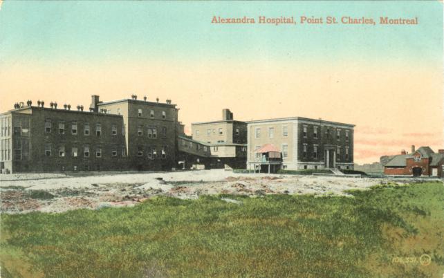 Pointe St Charles Mtl Alexandra Hospital A Canadian Family