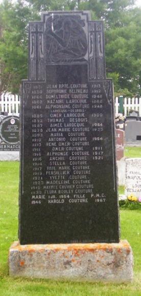 Beliveau, Couture, Desbois, Larocque  | Grande-Riviere Cemetery (Memorial)