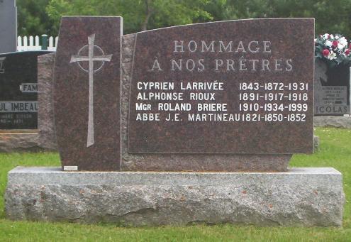 Briere, Larrivee, Rioux, Martineau | Memorial to Parish Priests | Grande-Riviere Cemetery