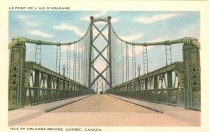 Ile  D Orleans Bridge Pub. Librairie Garneau 001