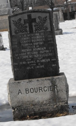 Headstone: DUPONT  | St-Joachim, Chateauguay | Quebec Cemeteries
