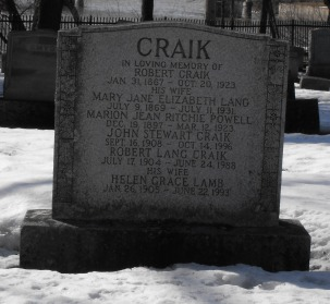 Headstone: LAMB  | Chateauguay Old Protestant Cemetery | Quebec Cemeteries