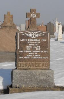 Headstone: BEAUDETTE  | St-Joachim, Chateauguay | Quebec Cemeteries