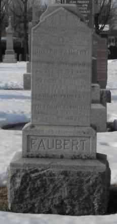 Headstone: FAUBERT | St-Joachim, Chateauguay | Quebec Cemeteries