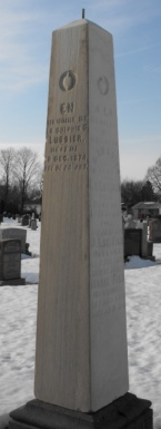 Headstone: LUSSIER  | St-Joachim, Chateauguay | Quebec Cemeteries