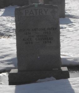 Headstone: GAUVREAU  | St-Joachim, Chateauguay | Quebec Cemeteries