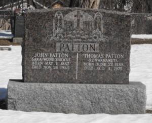 Patton   Kahnawake Catholic Cemetery