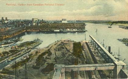Historic image Port of Montreal, from CNR Elevators