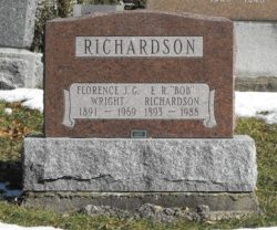 Headstone: RICHARDSON    | Chateauguay Old Protestant Cemetery  | Quebec Cemeteries