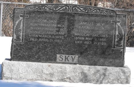 Canadian, Jacobs, Sky | Kahnawake Protestant Cemetery