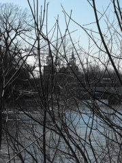 St Joachim Church from across the Chateauguay River