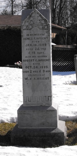 Headstone: WRIGHT  | Chateauguay Old Protestant Cemetery | Quebec Cemeteries