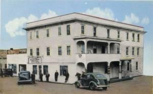 QUEBEC SURNAMES: Nault + Bonhomme, Garand, Jobidon, Labrie, Nault LOCATIONS: L'Ange Gardien, Quebec, St-Laurent on Ile d'Orleans | Vintage image of Mrs. Andre Nault's Maniwaki Central Hotel