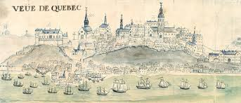 QUEBEC SURNAMES: Riverin + Gaultier, Heurtaux, Mars, Riverin Native Innu Montagnais, Riverin Native Saguenay LOCATIONS: Quebec | Historic drawing of Old Quebec City