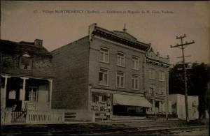 QUEBEC SURNAMES: Vachon + Langlois LOCATION: Quebec   Vintage photograph of Village Montmorency, Ulric Vachon's general store
