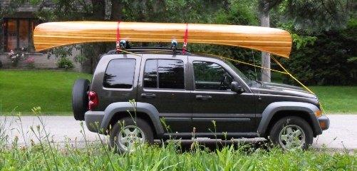 handcrafted cedar strip canoe