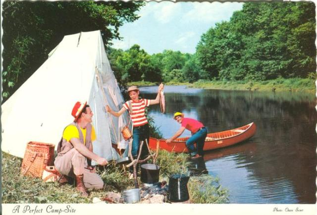 Canoe campers in doakton on the miramichi river a for Fishing camps for kids