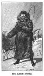 historic image of Montreal | sleigh driver in 19th century full length fur coat
