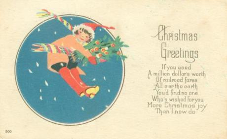 Old fashioned christmas greeting postcard a canadian family christmas greetings a vintage postcard old fashioned christmas greeting postcard m4hsunfo