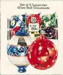 Old fashioned glass balls for Christmas decorations