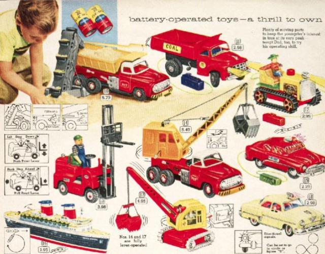 1950 Christmas Toys For Boys : Battery operated toys a thrill to own s «