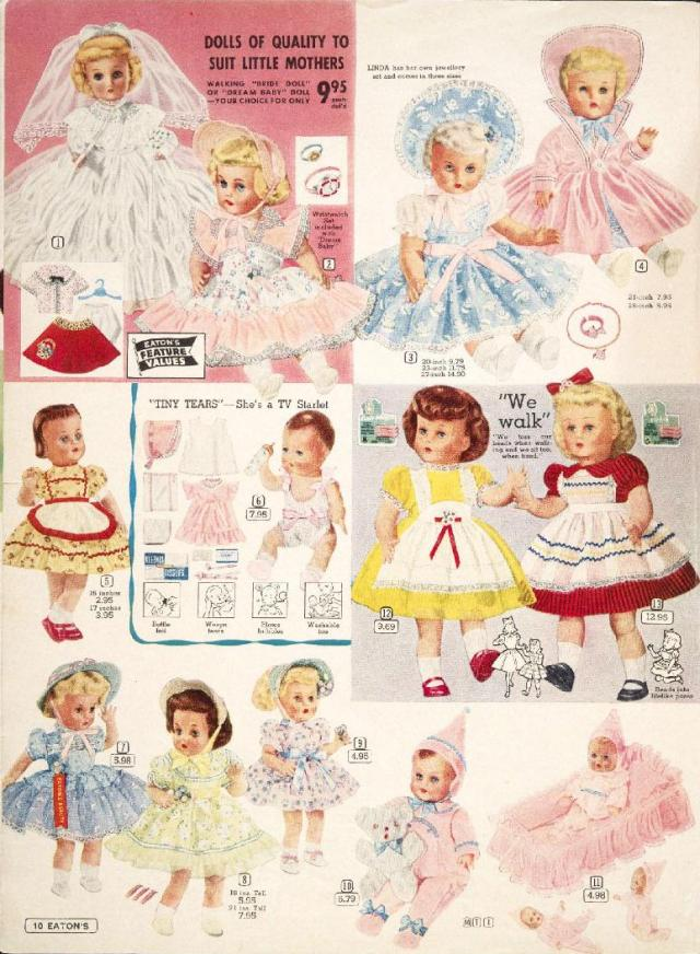 Old Fashioned Bride Toddler And Baby Dolls 1950s 171 A