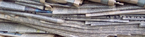 newspapers in a stack