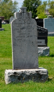 French Canadian headstone, Quebec