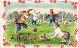 Animals play ball Easter Peter Lagasse Collection