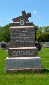 D'Amour Parent Reid Headstone Ste Philomene Mercier Monteregie Quebec