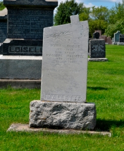 Quebec genealogy, headstone
