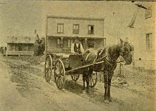 Caughnawaga 1905, horse drawn cart