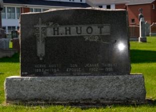 Ste-Philomene Cemetery Mercier Quebec | Headstone, Huot Thibert Genealogy