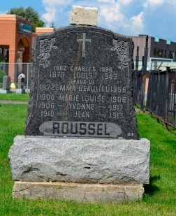 Ste-Philomene Cemetery Mercier | Roussel, Beaulieu headstone, Quebec genealogy
