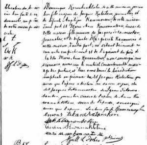 Marriage Record 2  Dominique Karonhiaktate Marie Anne Konwanatense