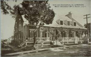 Historical Image | Manor Beausejour in St. Jean DeschaillonstLotbiniere, Quebec