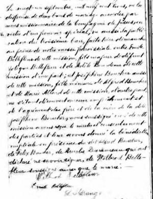 Bellefleur Boucher Marriage Record