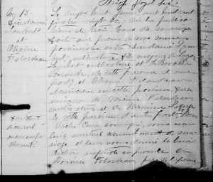 Lambert Falardeau Marriage record