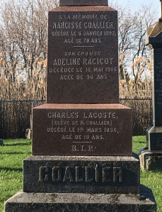 Headstone: RACICOT | St. Constant | Quebec Cemeteries