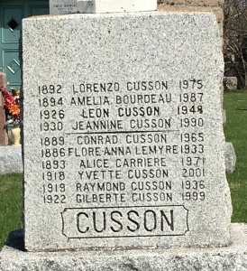 Headstone: CARRIERE | St. Constant | Quebec Cemeteries