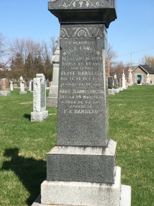 Headstone: BARRETTE| St. Constant | Quebec Cemeteries