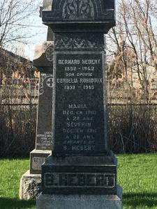 Headstone: HEBERT | St. Constant | Quebec Cemeteries