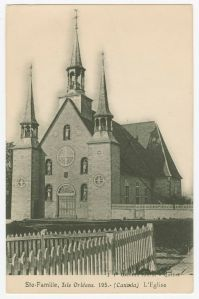 Ile d'Orleans | Ste-Famille Chruch | Pepin surname | early Quebec settlers