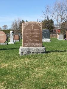 Headstone: BERTHIAUME | St. Constant | Quebec Cemeteries