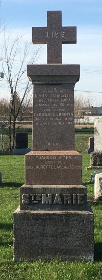 Ste-Marie, Fyfe, Longtin, Laplante | St Constant Cemetery Headstone