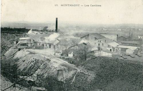QUEBEC SURNAMES: Cavelier + Beaudry, Duvivier, Fournier | Vintage postcard of the Montmagny, Quebec quarries