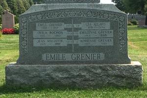 Headstone: MALLETTE  | Cimetière de la Paroisse Saint-Clément, Beauharnois  | Quebec Cemeteries