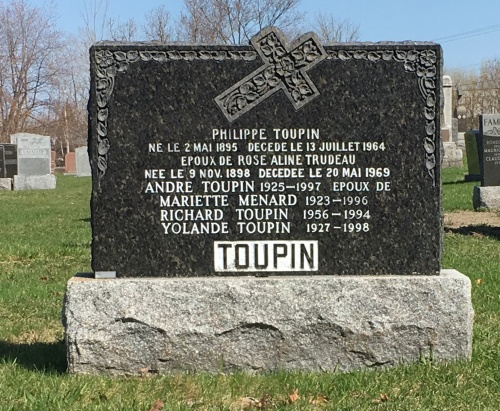 Toupin genealogy St Constant pioneers